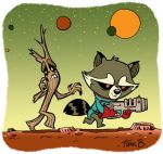 Lil' Rocket and Groot by tombancroft