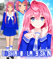 [R]EQ. LDShadowLady Skin for YANDERE SIMULATOR~ by cleandesu