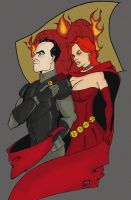 Stannis and Melisandre by xxtrendkillxx