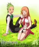 Cilan and Topaz by Atharple