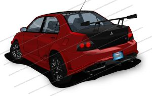 Mitsubishi Lancer Evolution IX MR-Edition - Vector by 3xhumed