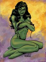 Sexy She-hulk pin-up by Colorzoo