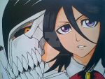 Bleach - Ichigo Hollow_Rukia by Saicross