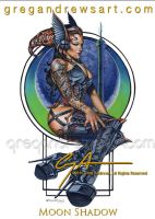 MOON SHADOW. fantasy pinup greg andrews artist by badass-artist