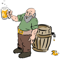 Dwarven Brewmaster Inspects His Work by aphilliard