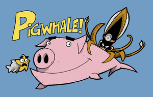Pigwhale and company by Jayextee