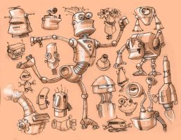 Robot studies by smiling-otis