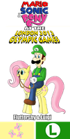 MSP 2012 Fluttershy and Luigi by ZeFrenchM