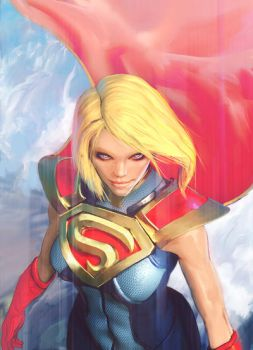 Supergirl Injustice 2 fan art by JefWu