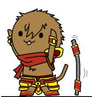 League of Legends Wukong Chibi by sakashiiii