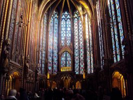 The true colors in Sainte Chapelle by Gubblyn