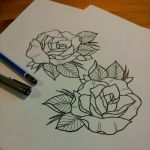 Rose tattoo design by ElfEupraxia