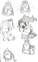 Adventure Time Sketches 10 by Celebi9