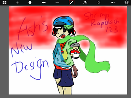 Ash's New Design for Pokemon (OC) by ShrimpRapidash123