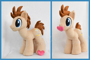 For Sale! Doctor Whooves Plushie /w Magnetic Heart by SnuggleFactory