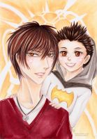 Father and Son: Tao and Leo by Khallandra