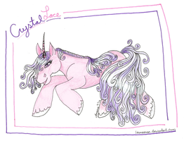 Crystal Lace: Gaia MLP Commish by leonaenae