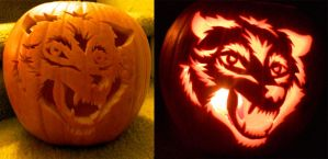 Pumpkin Wolf Face 2014 by jadewik