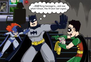 Batcave Hi-jinks by RHOD by Cartoon-Obsessions