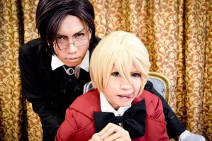 Kuroshituji S2 - Claude and Alois close up by karlonne