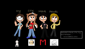 youtuber gamers!!! markiplier cry pewds and ken! by The-BearSweg