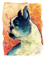 Boston Terrier by MissMaritzarolli
