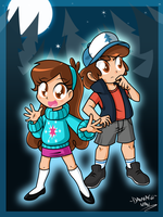 Gravity Falls by DANMAKUMAN