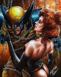 Wolverine at mercy of the Goblin Queen by Glebe by Twynsunz