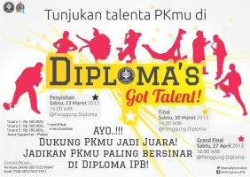 Diploma's Got Talent Poster by dendicious