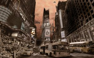 Times Square Ruins by tonyzork