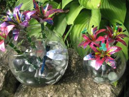 Recycled Soda Can Lilies by Christine-Eige