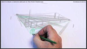 Learn How To Draw A Cartoon Airplane 008 by drawingcourse