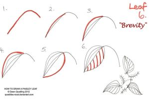 How to draw Paisley Leaf 06 Brevity by Quaddles-Roost