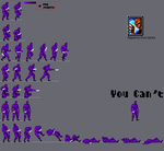 Purple man Sprite sheet by scott910