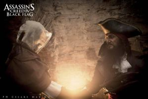 The pirate's alliance - Kenway and Blackbeard by eyes1138