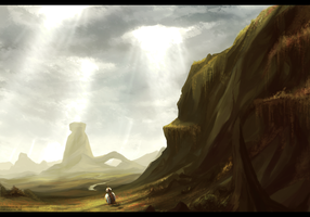 Lanscape practice : Mountains by dishwasher1910