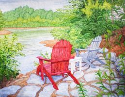 Chairs at Lake Keowee, SC by Built4ever