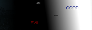 Ask GOOD And Evil by NeonBlacklightTH