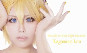 Kagamine Len - Butterfly On Your Right Shoulder by YAsuukun