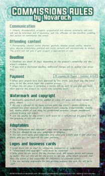 Commissions rules and conditions by Novarock