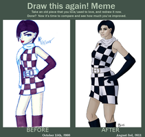 Before and After Meme - Amalia by goldendragonqueen32