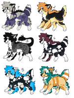 Adoptable Auction Wolf CLOSED [0/6] by HaoLux1998x15