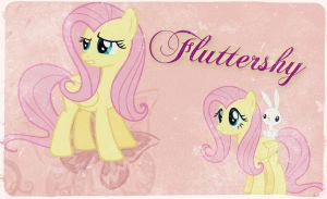 ~ Fluttershy Wallpaper (: ~ by Angelicsweetheart