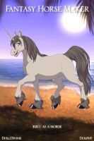 riku as a horse by xion9299