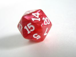 Bright Red D20 by mousch