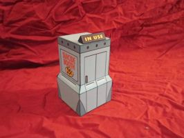 Papercraft suicide booth by enc86