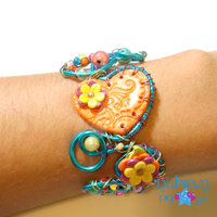 Wired clay Bracelet for CW by colourful-blossom