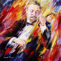 Music Monsieur by Leonid Afremov by Leonidafremov