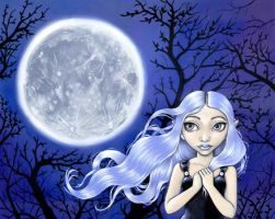 Wishing on the Moon by linranae