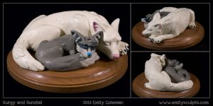 Commission : Kurgy and Sundial by emilySculpts